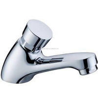 New Single cold Brass water delay Self-closing Basin Washroom Faucet mixer Tap