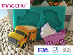 Beautiful Car And Baby- Car Silicone Fondant Cake Decorating Tool