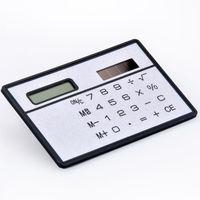3MM Plastic Solar Power Pocket Calculator, card calculator