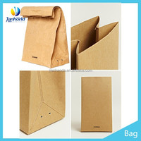 recycled brown/white grocery kraft paper bag