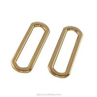 fashion shiny sgold rectangle shape round corner metal ring for bag