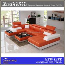 u shape sofa set,u-shaped sofa,genuine leather u shaped sectional sofa,XC-XJT-D3317