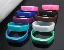 HOT Sports Bracelet LED Watch 2015 Sport Watch Fashion Digital Watch Date Time Men Wristwatch Waterproof Colorful Rubber Band