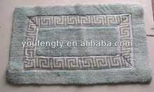 machine tufted bath mat for bedroom
