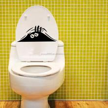 Funny Voyeur Toilet Peeking Monster Scary Eyes Wall Sticker Car Vinyl Decal