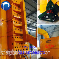 Large outdoor hypothermic circulating wheat tower grain dryer