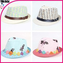 Popular children's hat Butterfly flower children jazz cap hat