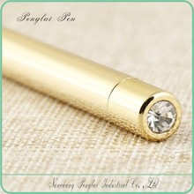 2015 Business Gifts Metal Ballpoint Pen top crystal golden customized pen with logo