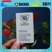 PVC hard plastic business cards printing
