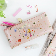 Fashion Stationery Pastoral Sackcloth Pen Makeup Case Canvas Bag, school pencil pouch