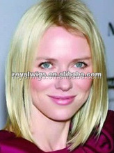 Fashion Style Hot Selling Natural Looking Dark Roots Human Hair Blonde Swiss Lace Wig