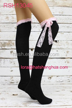 (RSH13045) Lace Thigh High Knitted Socks
