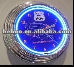 Neon wall clock for bar harley davidson neon clock