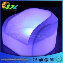 2015 hot sale fashionable led PE plastic color changing sofa