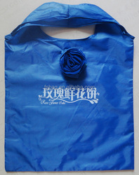 nylon foldable rose shopping bag