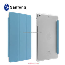 For ipad mini 4 magnetic pu leather case with sleep fuction