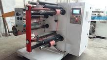 High speed 600mm width plastic film slitting and rewinding machine