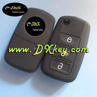 Alibaba recommend high quality and good price Skoda flip key case with 3 button for skoda silicone key cover
