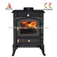 Wood burning stove for home cast iron wood