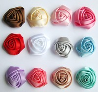 Satin Rose Flower for Headband Princess Headband Making Kit
