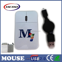 New Optical Mice for computer hot wholesale retratcable cable mini mouse