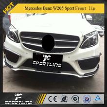 Carbon Fiber Front Lip C200 C180 C260 Sport For Mercede s Ben z 2014 C-Class W205 Sport