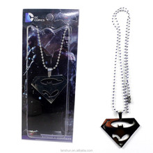 DC Comics Batman V Superman Pendant Necklace Chain Free Shipping Silvery
