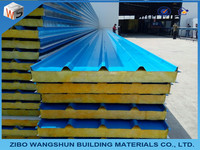 insulated fireproof rockwool/EPS sandwich panel for roof and wall