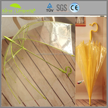 Big Women Straight Umbrella With Curved Handle New Inventions