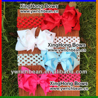 top hot-sales Girl's large bow Headband,Fashion kids' elastic Hairband with bow !new style large bow headband WH-771