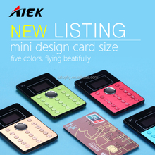 New arrival ultra-thin MTK6261D card mobile phone Aiek Q7 with function MP3, GRPS/hands-free Bluetooth,radio,alarm clock