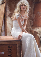Luxurious High Quality Lace Mermaid Bridal Gown Custom Made Big Discount Beaded Lace Mermaid Wedding Dress EN191