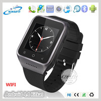 Hight quality oem android OS v4.4 RAM 512MB ROM 4G touch screen mobile 3G watch phone watch with music speaker wifi bluetooth