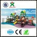 CALIENTE! Diapositivas zona de juegos pre-escolares atractivos para los niños / parque infantil QX-11015B