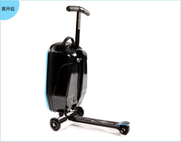 PC/EVA luggage 250 watt electric scooter with 3 wheels