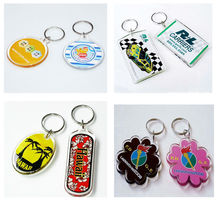 Hot Sale promotional cheapest Acrylic Plastic key chain