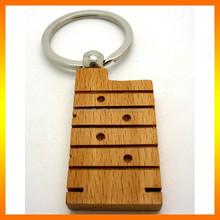 Best Price China Keyring Custom Engrave Wood Key Chains