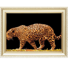 Leopard design wild animal pattern canvas oil painting by number set