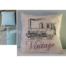 vintage cushion with car design,Decorative printed pillow