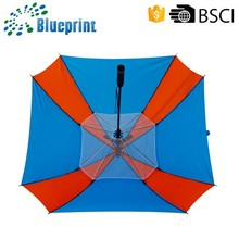 fashion straight golf sun fan umbrella with windproof function