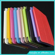Simple Triple Fold Silk Print PU Leather Stand Case for iPad mini 4