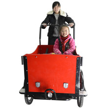 CE family bakfiets 6 speeds front loading cargo tricycle with pedal sensor price china