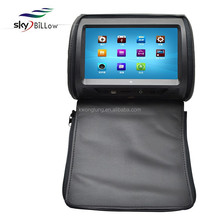 2015 new arrival 9 inch car headrest DVD monitor and player with zipper cover