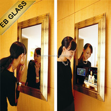 flat screen Television full HD , advertising magic mirror, decorative mirror glass sheet for bathroom