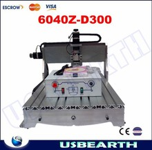 Free shipping! Hot sale! cnc router engraver 6040Z-D300 BALL screw 300W DC power spindle motor cnc router machine
