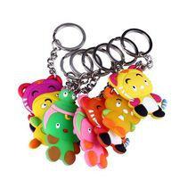 promotional soft pvc rubber key ring