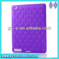 Fashion Babysbreath Plating Silvery Hard Case for iPad 2 3 4