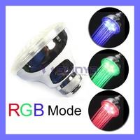 12 LED Bulb Chrome Plating Luminous RGB Top Shower Head