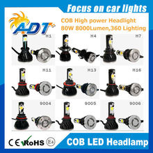 G5 COB Chips LED Car Headlight Bulbs Lamps with super canbus driver