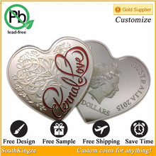 Quality red enamel eternal love Australia coin